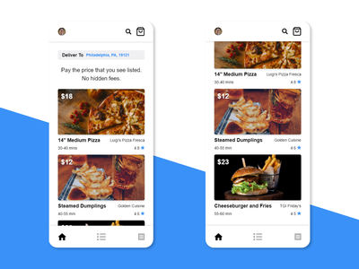 Food Delivery App Home Page