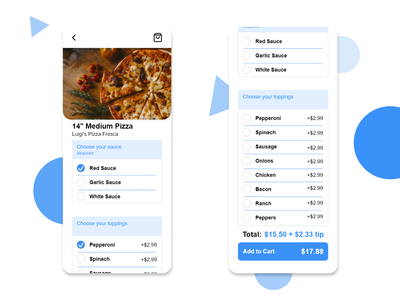 Food Delivery App Customize Order