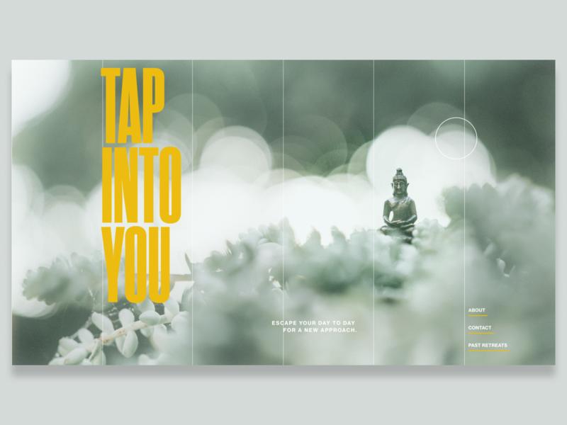 Daily Web Design Yoga Retreat yoga website figma web ux ui minimal flat design branding
