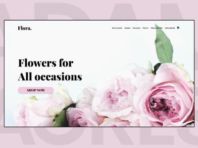 Flora. Landing Page