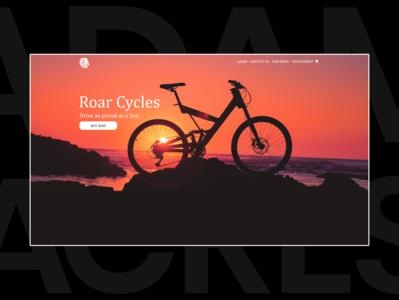 Roar Cycles - UI Landing Page Design