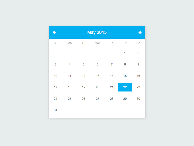 Jquery UI Date Picker Isolated CSS by Amit Keren on Dribbble