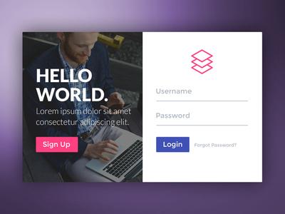 Login Form signup login signup login form form password username login