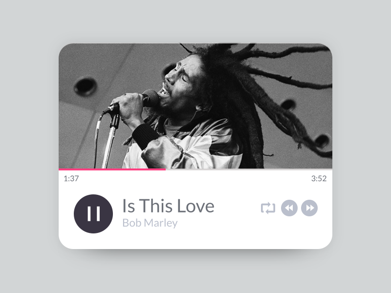 Is This Love Music Player player music music widget is this love bob marley music player