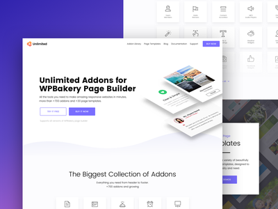 Unlimited Addons homepage home