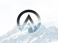 My Logo on a Snowy Mountain