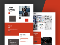Day 001 CV Resume - Free WordPress Page Template