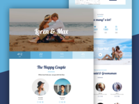 Sea Wedding Landing Page