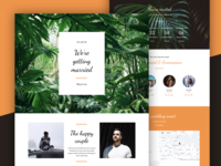 Tropical Wedding Landing Page