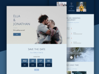 Winter Wedding Landing Page