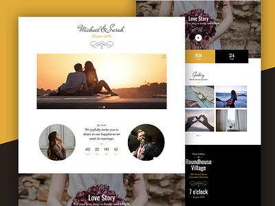 Victorian Wedding Landing Page landing page wedding event landing page