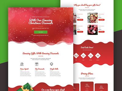 Christmas Landing Page landing page christmas