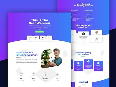 Webinar Landing Page webinar