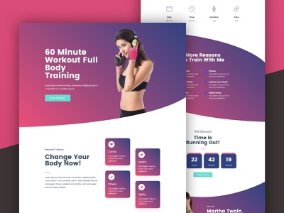 Personal Trainer Landing Page personal trainer personal trainer landing page