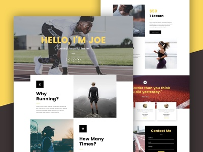 Personal Trainer Landing Page personal trainer