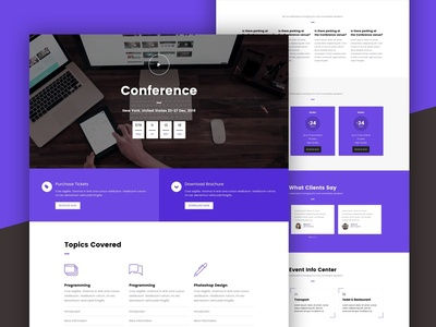 Conference Event Landing Page