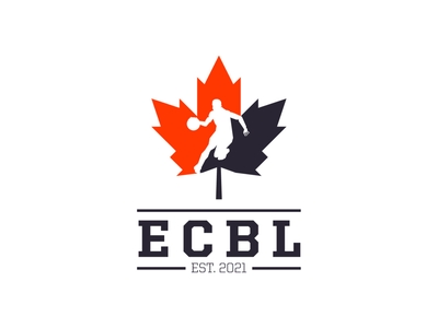 East Coast Basketball League Logo maple leaf canada basketball logo basketball