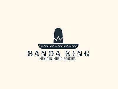 Banda King Logo logo sombrero logo crown logo crown mexican sombrero