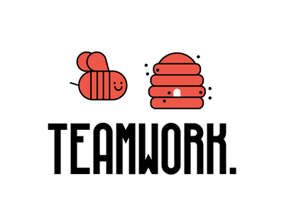 Teamwork! bee hive teamwork bee