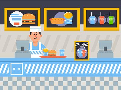 Fast Food Joint comida rapida qsr counter burger fast food