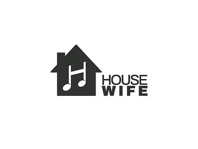 House Wife Music logo music house music house