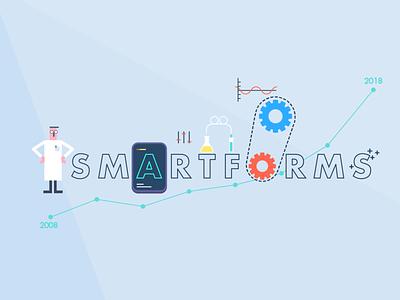 Smartforms Illustration science gears character illustration