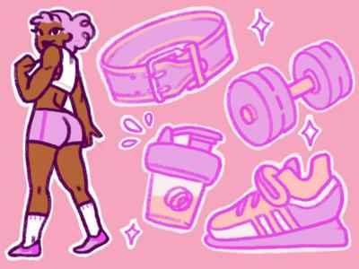 Pink Powerlifter