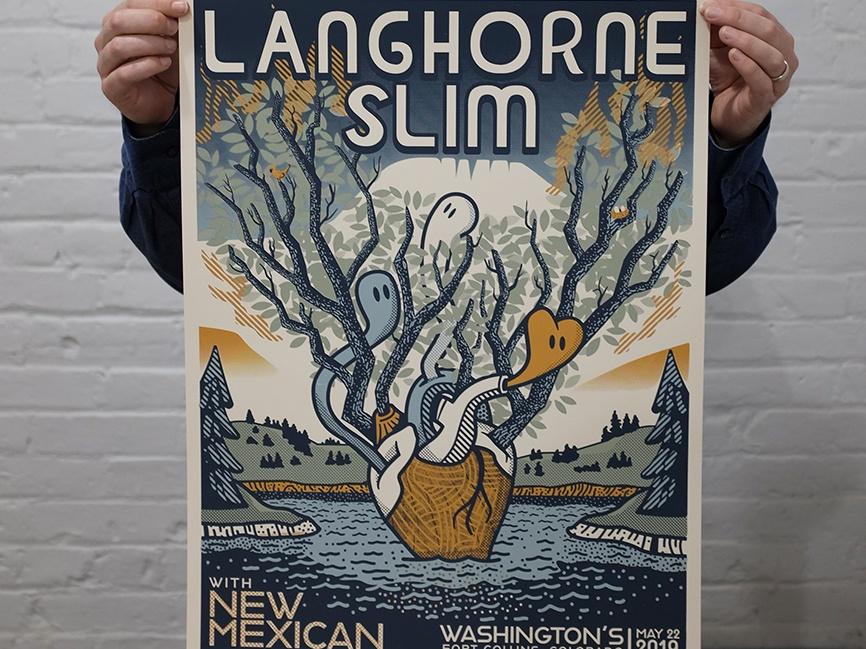 Langhorne Slim Concert Poster music poster design illustration screenprint