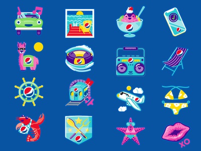 Summer Soda Icon Design: Set 2