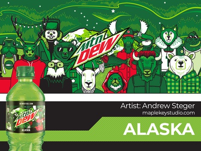 Limited Edition Alaska Soda Bottle