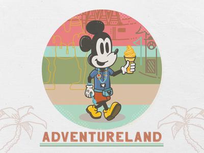 Dole Whip Mickey in Adventureland