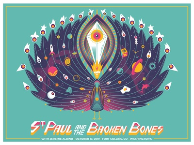 Space Peacock for St. Paul and the Broken Bones