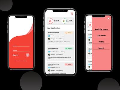 Leave App minimal ux design app ui illustration