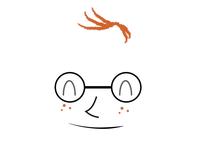 Trivia Nerd Character Face