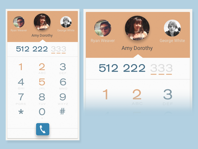UI 3 - Dial Pad add to cart 100 days of ui android material interface flat material design sketch mobile dial pad ui