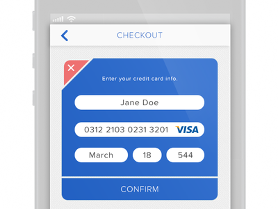UI 4 - Credit Card Payment 100 days of ui interface daily ui e commerce credit card cc check out ui mobile