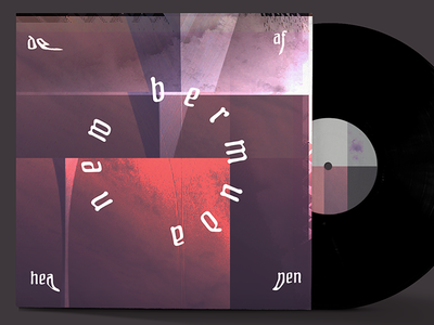 "Deafheaven ""New Bermuda"" album art concept warm band typography music branding glitch vinyl album art deafheaven"