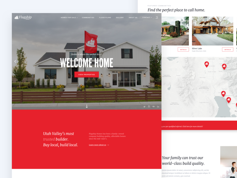 Flagship Homes Wip By Tanner Thelin Dribbble Dribbble