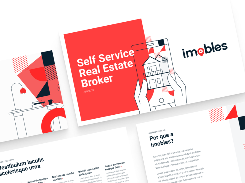 Pitch Deck - Real Estate real estate red ui pitch deck