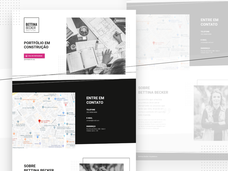 Under construction / Landing Page - Archtecture Studio landing page under construction website ui design page ui design