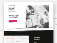 Under Construction / Main section ui designer website landing page ui design ui design