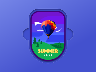 Summer 2020 Pin pin design badge logo badgedesign affinity designer affinity illustrator logo icon dribbbleweeklywarmup badge pin illustration vector flat design ui