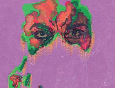 Fading digital painting digital art graphic art poster art design illustration