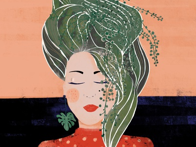 Pland Lady girl lady plants design illustration