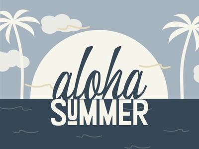 Aloha Summer beach typography illustration design aloha summertime summer