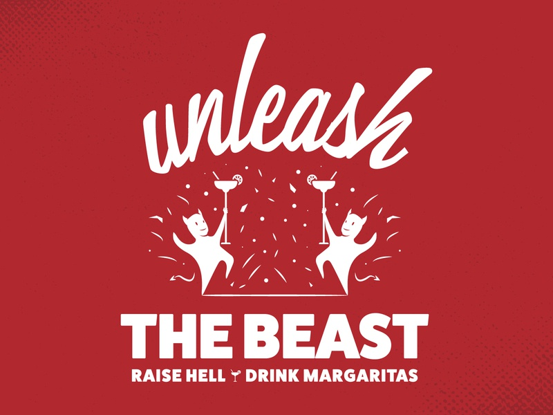 Unleash The Beast print design brand identity brand design tshirt design typography