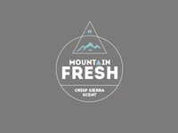 Mountain Fresh Logo Study
