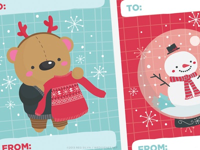 Wedgienet 2013 holiday gift tags - WIP