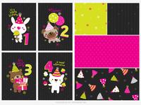Neon birthday - WIP 2