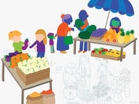 WIP: market scene